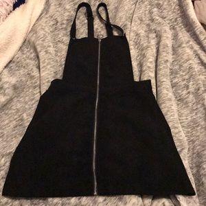 Brand new zipper overall dress